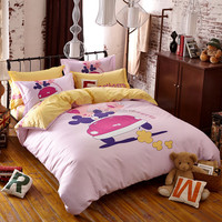 wholesale bed sheet lovely kids bed cover printing bed sheet designs