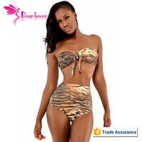 New design High Waist Brazilian Style neoprene swimwear