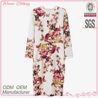 Manufacturer in china new design Plain White Printed Ladies Clothing