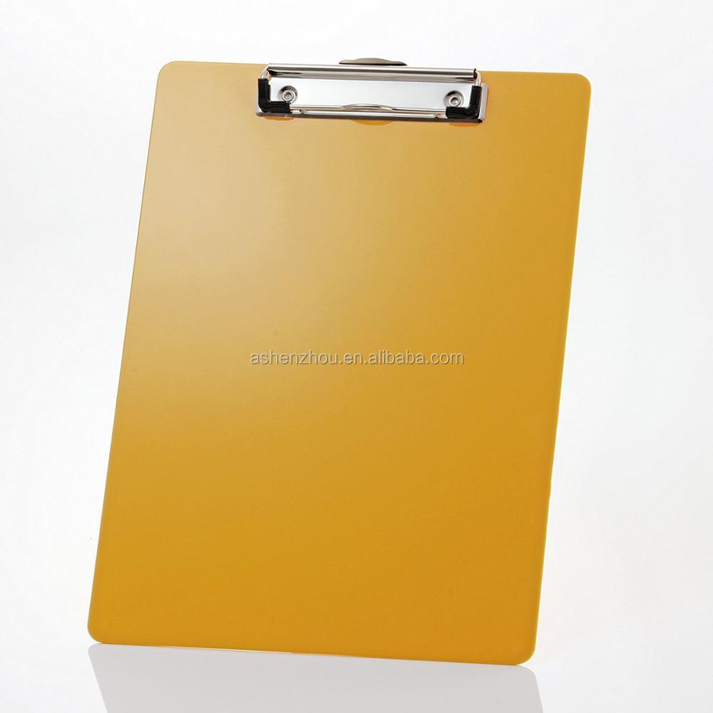por mayor de encargo PP plástico metal portapapeles Clip, tablero PP espuma portapapeles, Oficina escritura tablero de clip