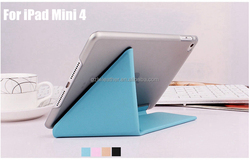 Ultra Thin Leather Cover Case For iPad Mini 4 Tablet Cover Custom Case Smart Cover For iPad Mini