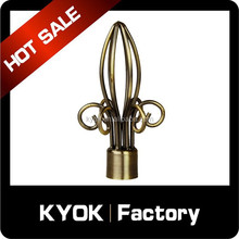Round Iron Rod And Finial,Decorative Curtain Finials