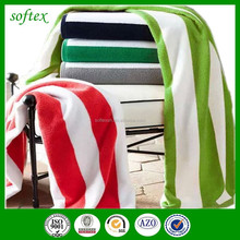 European and American style customized cotton stripe beach towels with Super water absorbing