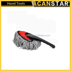 Flexible and removable microfiber car cleaning duster