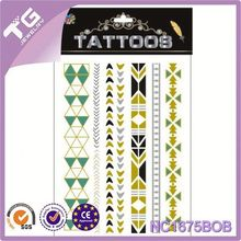 Temporary Tattoo Glitter Tattoo Stencil,Flash Glod Metallic Tattoo,Tattoos Stencils