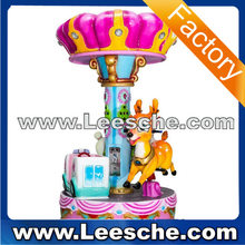Coin operated carousel horses amusement park rides rail train kiddie rides operated China animal ride on toy for kids