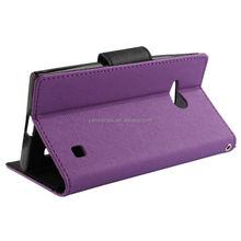 flip leather case cover for nokia lumia 730 735