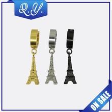 Fashion plated dangler earrings body piercing jewelry
