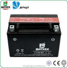 YTX9A-BS Maintenance Free 12v Lead Acid Battery For Motorcycle