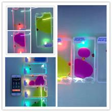 led light demo case,flood liquid LED Flash Lighting mobile phone Case cover For iPhone 6