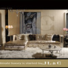 JS15-3L Daybed Full Grain Leather Sofa JL&C Luxury Home Furniture New Sofa Designs