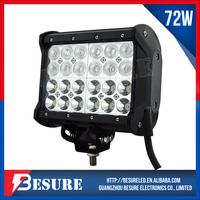 Diecast Aluminum Housing LED Light Bar Quad Row 72W Off Road Car UTE ATV 4x4 Head Lamp