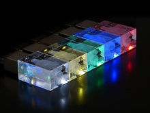 Factory Price Crystal USB With Custom Logo engraved inside crystal