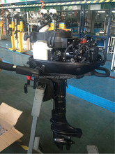 Gasoline Outboard motors type 5hp Small boats for fishing with two stroke short shaft