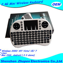 I8 Mini QWERTY Keyboard 2.4 Ghz Wireless Air Fly Mouse Remote Control