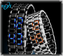 2014 New Arrival Top Selling Iron Samurai Lava Led Watch Samurai Blue Led Watch With Digital Play