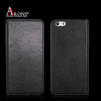NEW texture black mobile phone leather case with slots