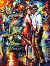Pop Sell Abstract Landscape Dancing In Paris Street Oil Painting On Canvas Abstract Dancer Oil Painting Canvas For Wall Artwork