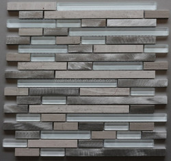 glass mixed metal mosaic designer kitchen wall tile building materials