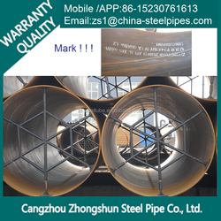 SSAW steel pipe for pill in cangzhou mill best price