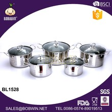 Hot Sale Soup Pot Stainless Steel Material With Glass Lid