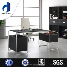 F-08 Modern cheap stainless metal frame executive office desk