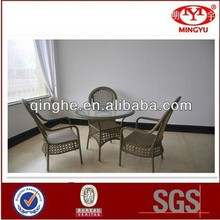 Hot sale table set wicker rattan furniture rooms to go outdoor furniture