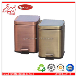 Household Goods 3L mini foot pedal garbage bin in stainless steel with inner bucket for wal-mart supplier alibaba China