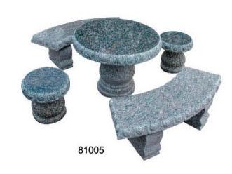 piedra del jardn al aire libre mesas y bancos