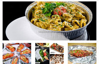 healthy silver aluminum laminated foil container with lids