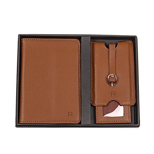 Personalized Leather Passport Holder And Luggage Tag Set (1).jpg
