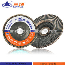 Silicon carbide flap disc for grinding non-ferrous metals and non-metallic polishing grinding