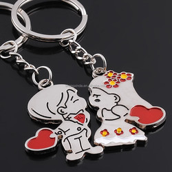 2015 new creative and cute colorful mental Key Chain with factory price