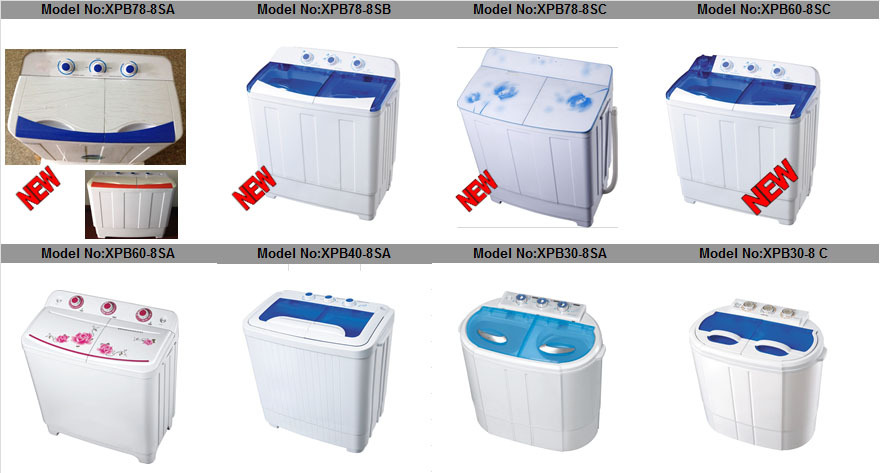 2014 newest 2.0-4.0kg single tub semi automatic mini washing machine with spin drying/baby washing machine/portable Copper motor