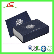 Q1257 New Design Exquisite Blue And Silver Colour Luxury Wedding Invitation Box With Envelope