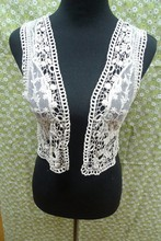 fashion Elegant Crochet Lace Lady Blouse design 2015