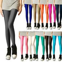 Women shiny Bright Fluorescent Glow Stretch Tights Leggings Pants 15 colors hot sex photos leggings
