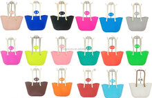 Europe and America Leisure Shoulder Bag Rope Bag Rubber Silicone Beach bags