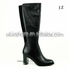 Ob63 botas de salto alto mulheres inverno meia botas de preços enrugada