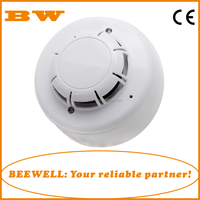 Factory wholesale conventional fire alarm system 2/4 wire network optical chamber smoke detector