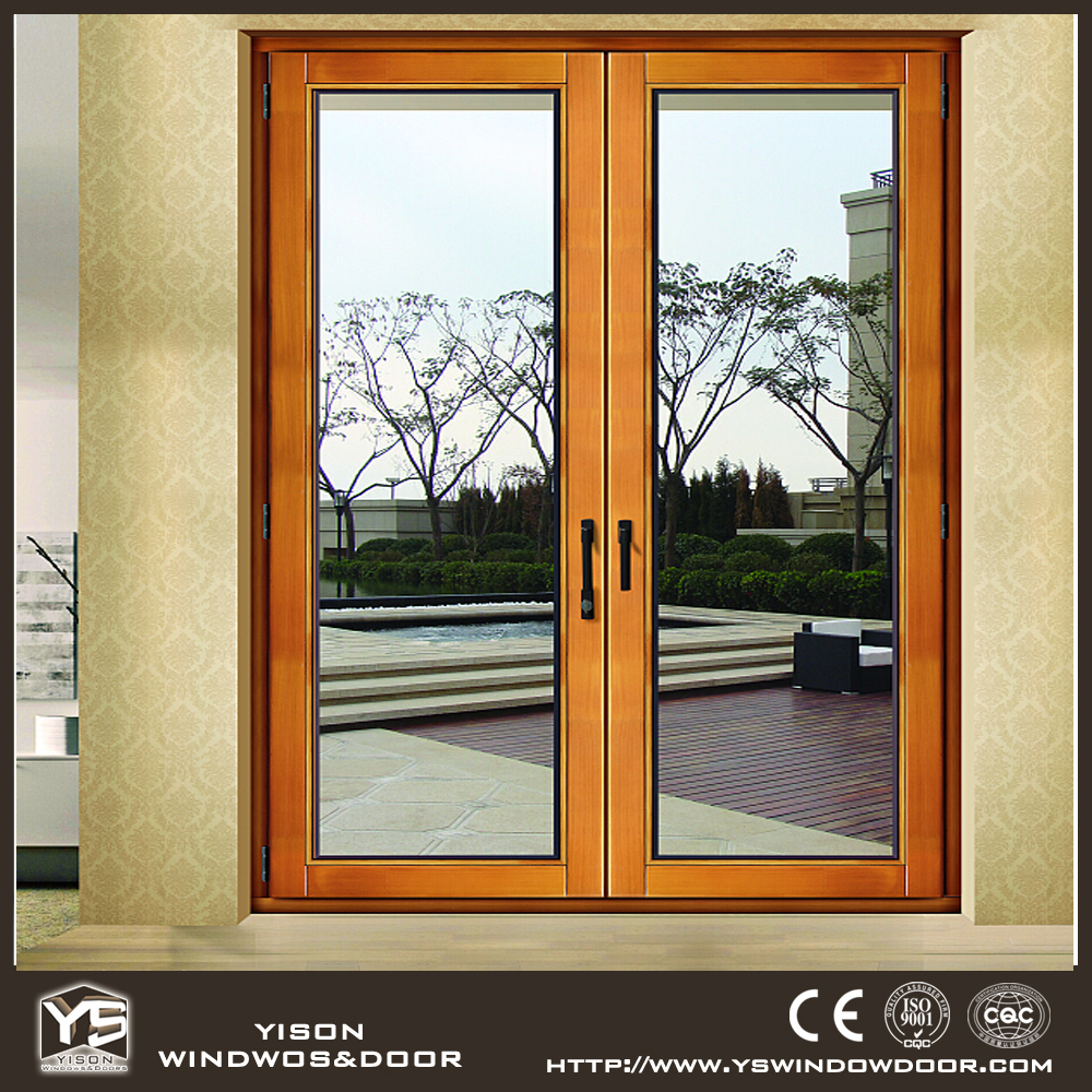 Cheap price door wood aluminium windows and doors for Windows and doors prices
