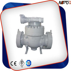WCC/WCB/CF8/CF8M/CF3/CF3M Top Entry Full Bore/Reduced Bore Trunnion Ball Valve Worm Gear Operated