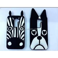 mobilephone case zebra design dog design silicone case for LG G2