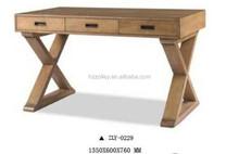 Reproduction Wood Cross leg desk Table