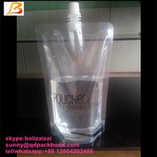 Custom Plastic Rum Runner Wine Spout Bag/Liquor Pouch/Rum Runner Wine Flask