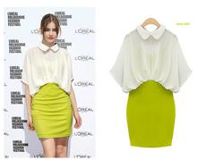 women's office blouse for uniform short sleeve blouse thin design