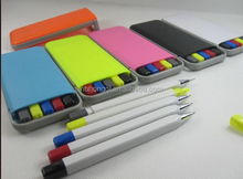 Hot selling Promotional 5 in 1 Highlighter Pencil Ballpoint Pen Set