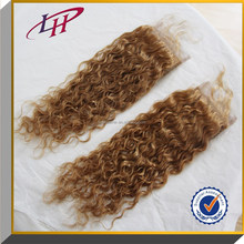 High Quality 6A Human virgin Hair Lace Closure 4*4 Kinky Curly Blonde