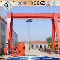 factory outdoor using 5t single beam gantry crane, gantry crane 5 ton