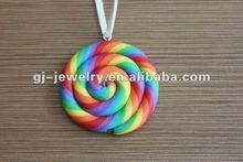 Rainbow sweet pendant Jewelry Necklace,fashion necklace 2012